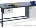 work bench with cabinet and drawer with bech vise.jpg
